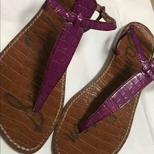 Sam Edelman Shoes - Sam Edelman Purple Snake Skin Sandals Size 8.5